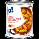 ja! Fleischbällchen-Topf mit Tomaten & Nudeln 800g