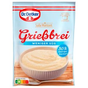 Dr. Oetker Grießbrei weniger süß 76g
