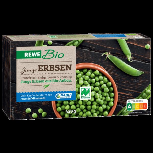 REWE Bio Junge Erbsen tiefgefroren 450g