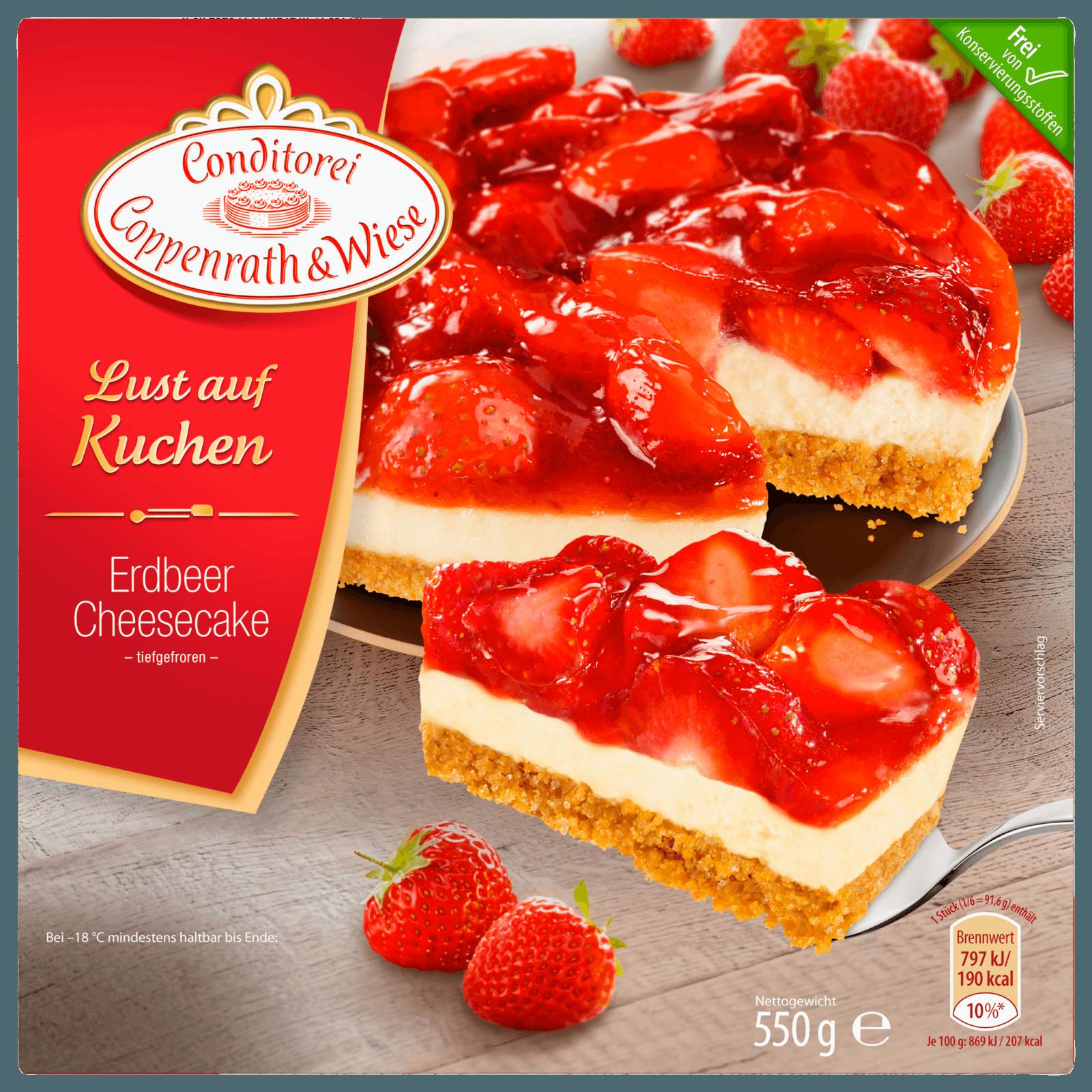 Coppenrath & Wiese Lust auf Kuchen Erdbeer-Frischkäse 550g
