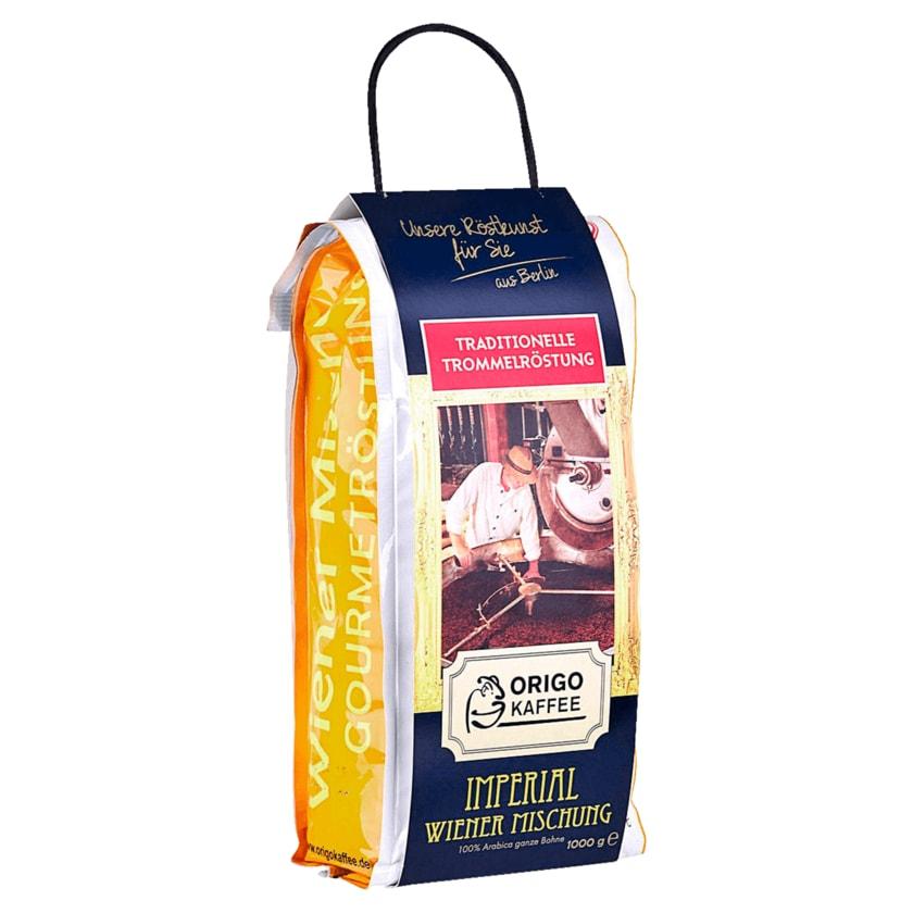 Origo Kaffee Wiener Mischung Imperial ganze Bohne 1kg