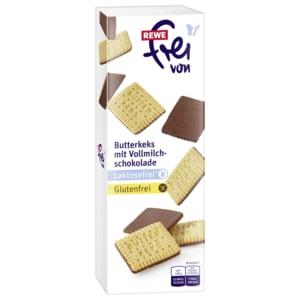 REWE Frei von Butterkekse mit Vollmilchschokolade 100g