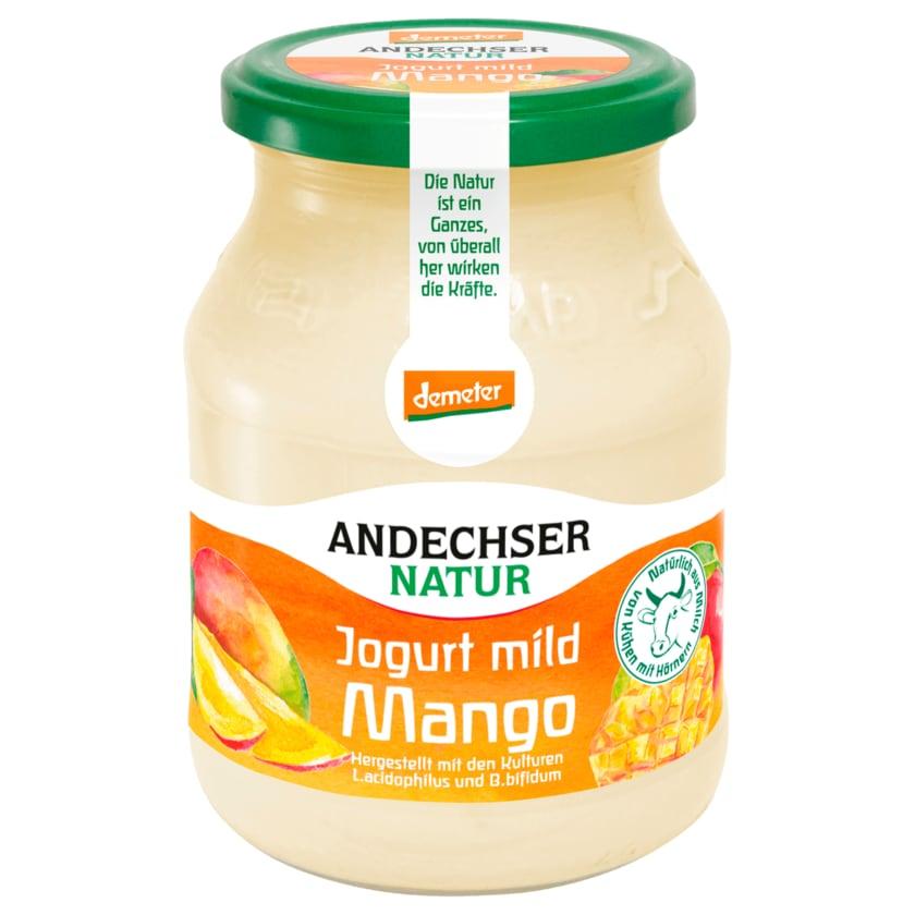 Andechser Demeter Natur Bio Jogurt mild Mango 500g