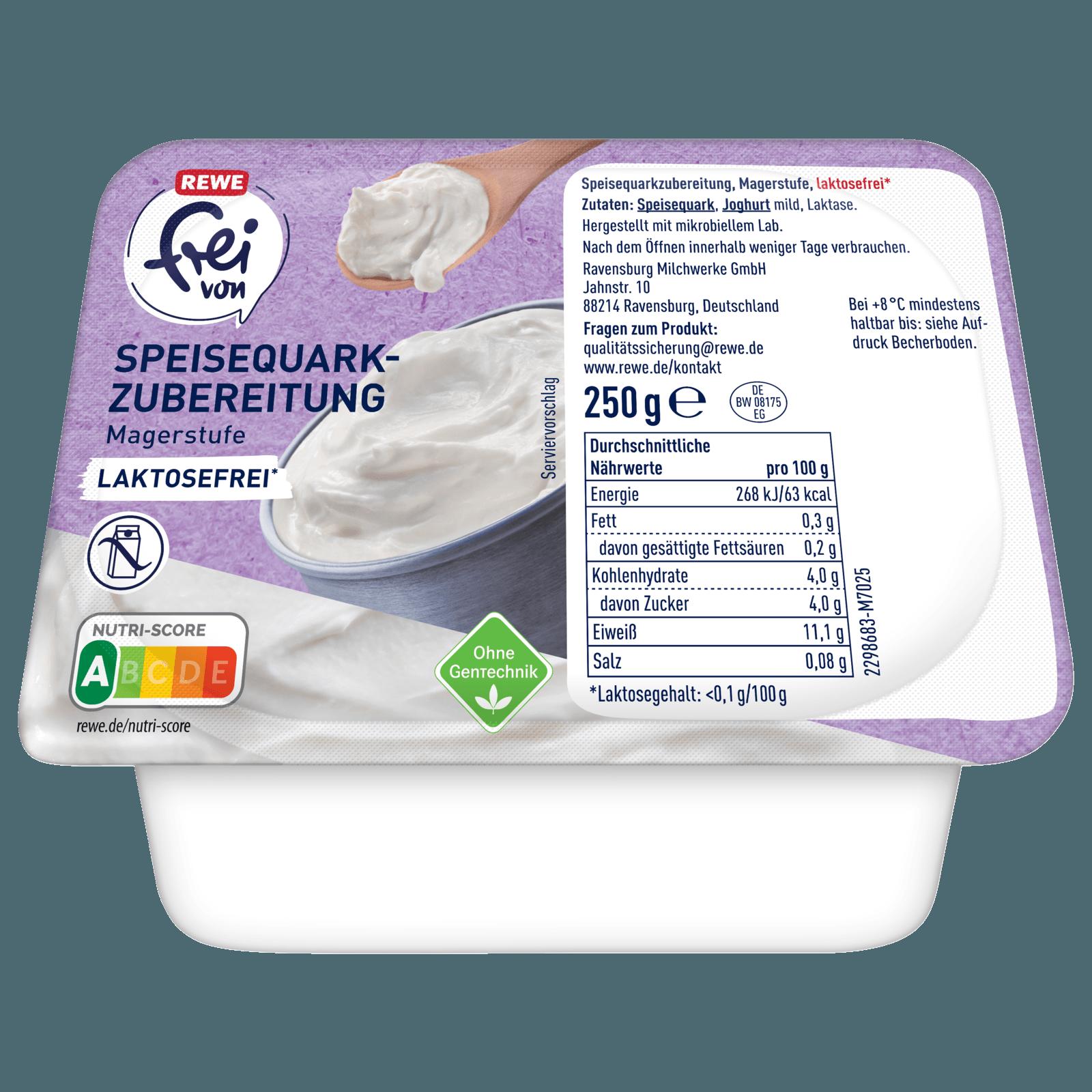 Rewe Frei Von Speisequarkzubereitung Magerstufe 250g Bei Rewe Online