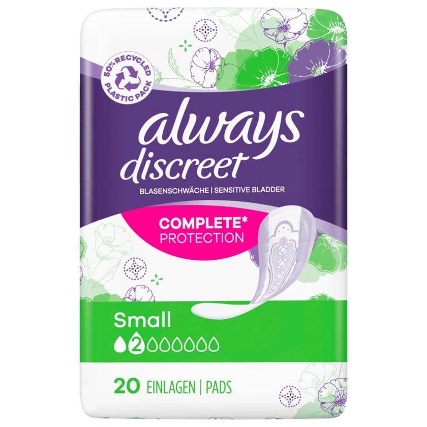 Always Discreet Inkontinenz Einlagen Small 20 Stück