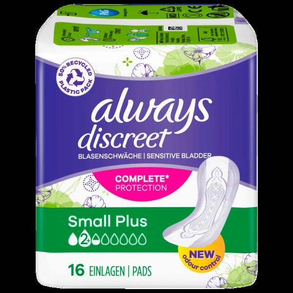 Always Discreet Inkontinenz Einlagen Small Plus 16 Stück