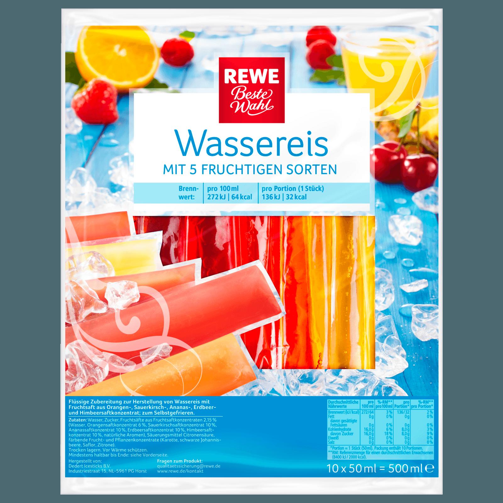 Rewe Beste Wahl Wassereis Mit Fruchtsaft 500ml Bei Rewe Online