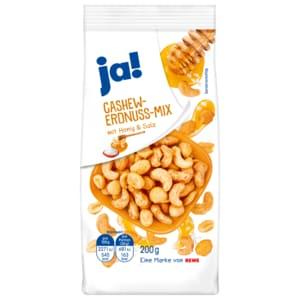 ja! Cashew-Erdnuss-Mix Honig & Salz 200g