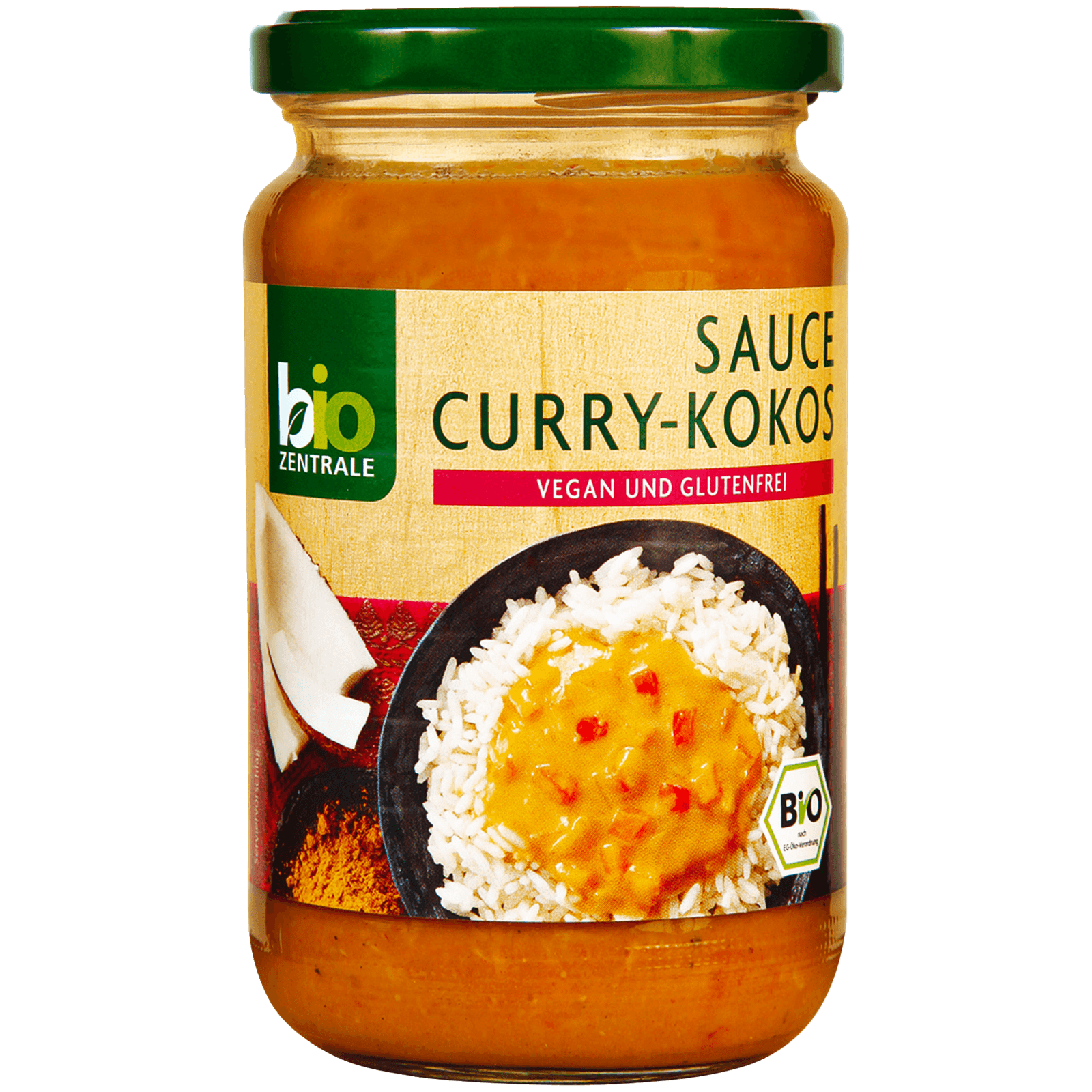 Bio Zentrale Sauce Curry-Kokos 340ml
