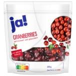 ja! Cranberries 200g