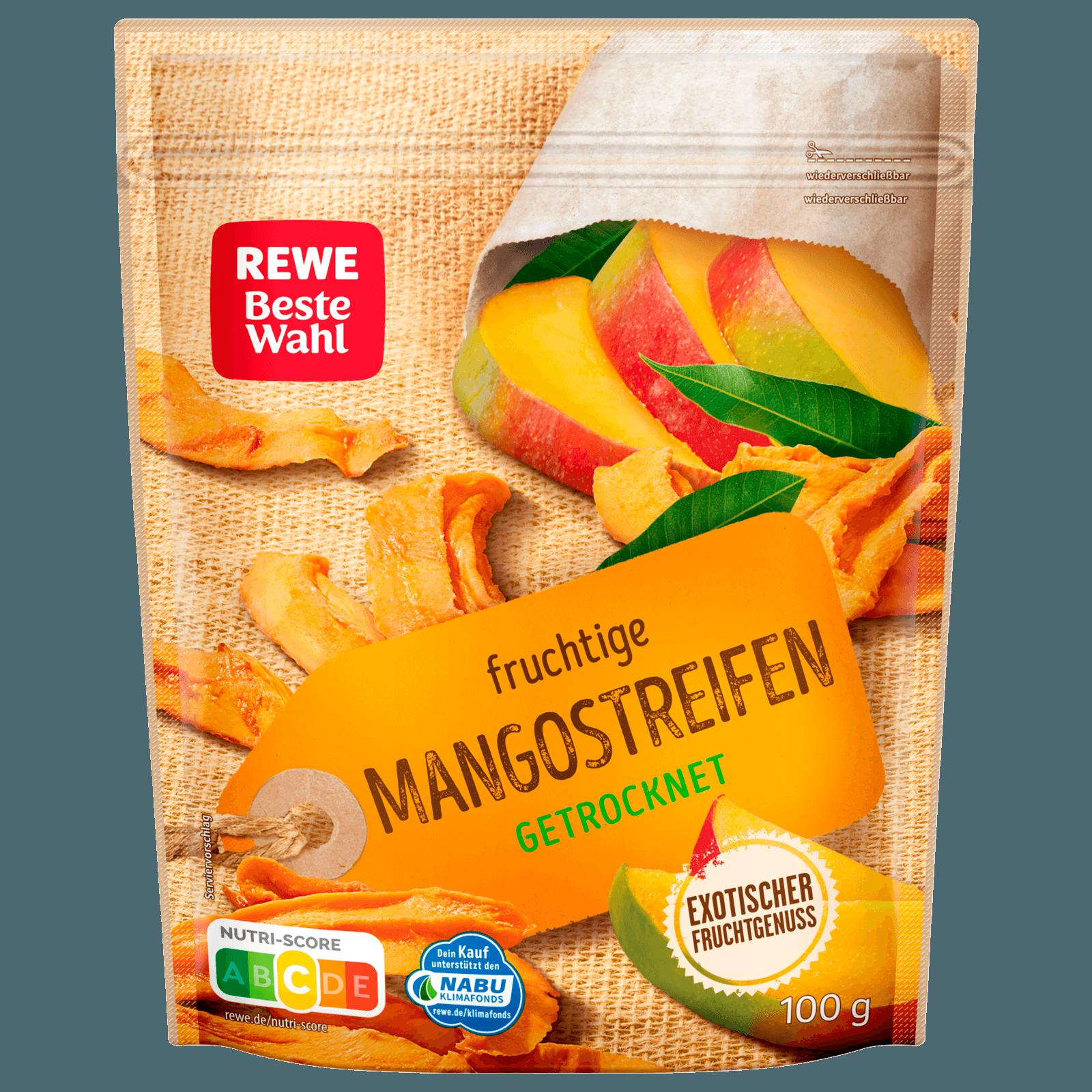 REWE Beste Wahl Mangostreifen 100g