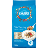Davert Chia Topping Cranberry-Vanille 200g