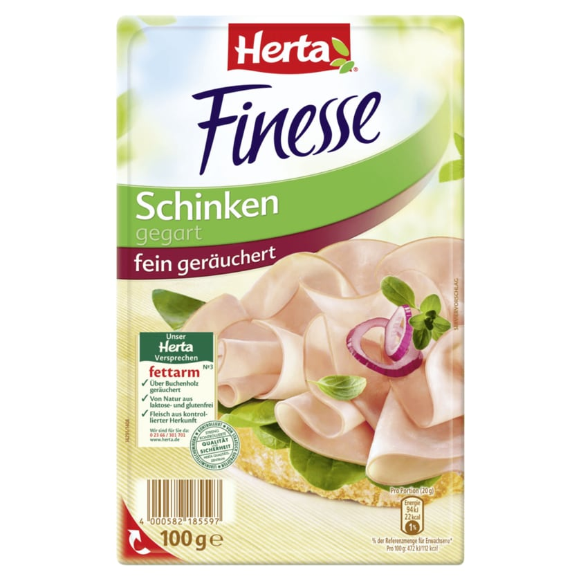 Herta Finesse Schinken fein geräuchert 100g