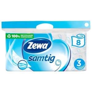 Zewa Samtig Toilettenpapier 3-lagig 8x140 Blatt