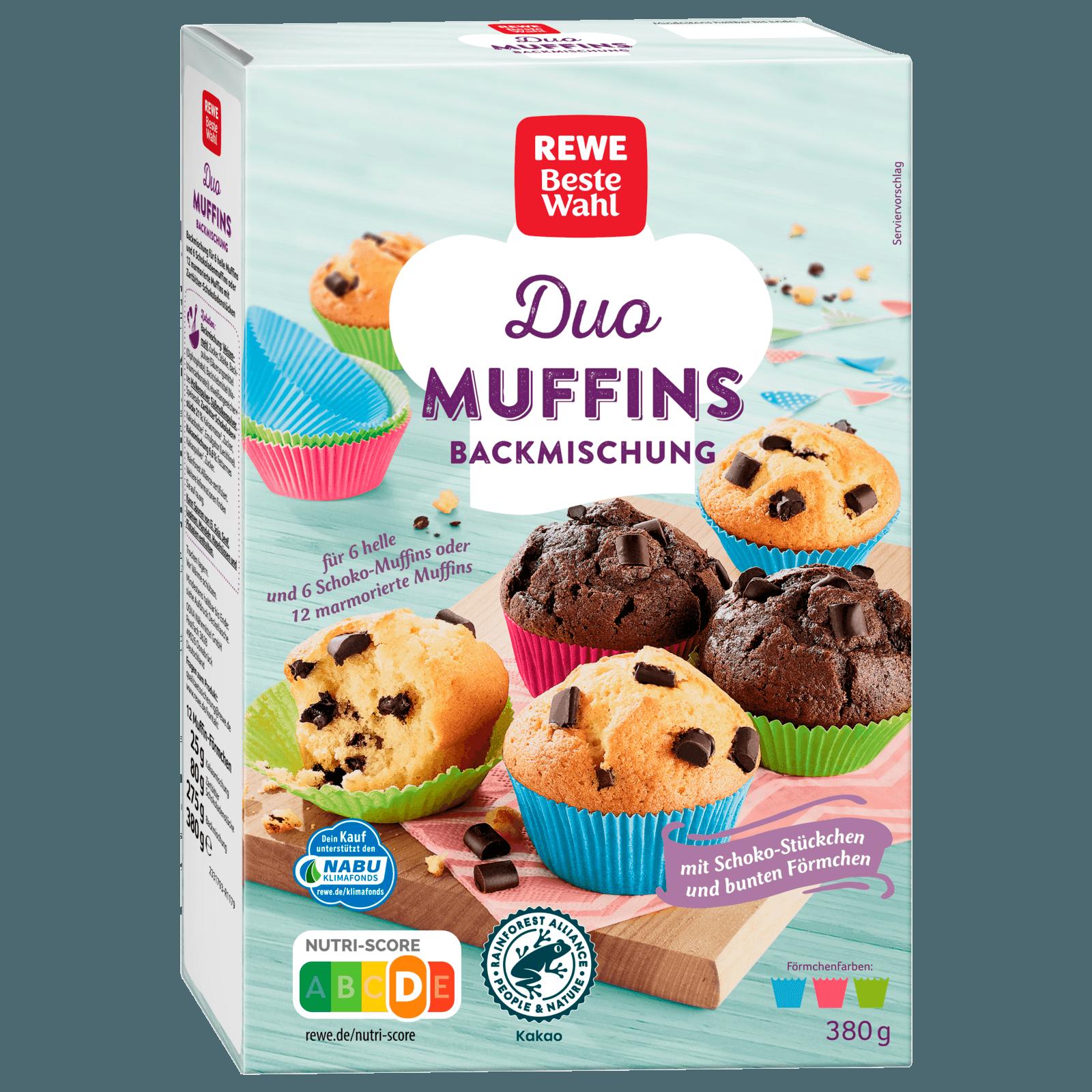Rewe Beste Wahl Duo Muffins Backmischung 335g Bei Rewe Online Bestellen