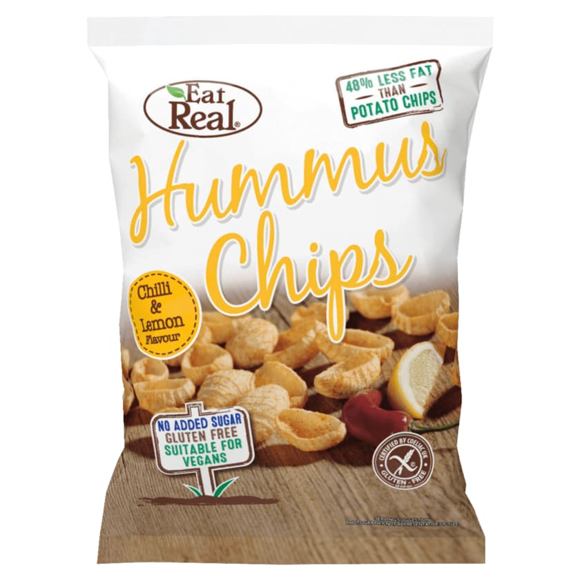 Eat Real Hummus Chips Chilli & Lemon 135g