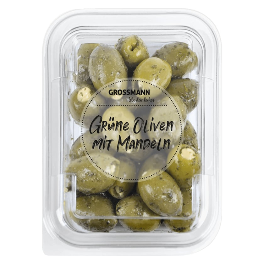 Grossmann Grüne Oliven mit Mandeln 122g