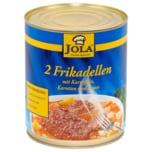 Jola Zwei Frikadellen mit Kartoffeln, Karotten und Sauce 800g