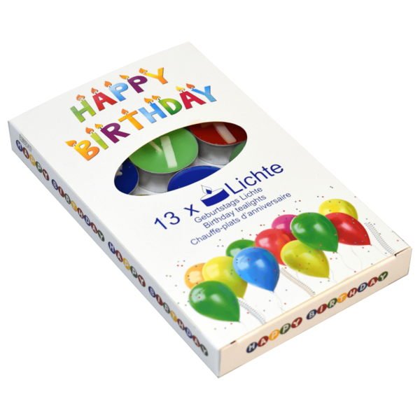 Happy Birthday Teelichter 13 Stück