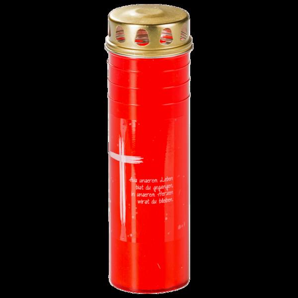 Trauerlicht groß rot 1 Stück