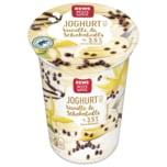 REWE Beste Wahl Joghurt Vanille & Schokoballs 250g