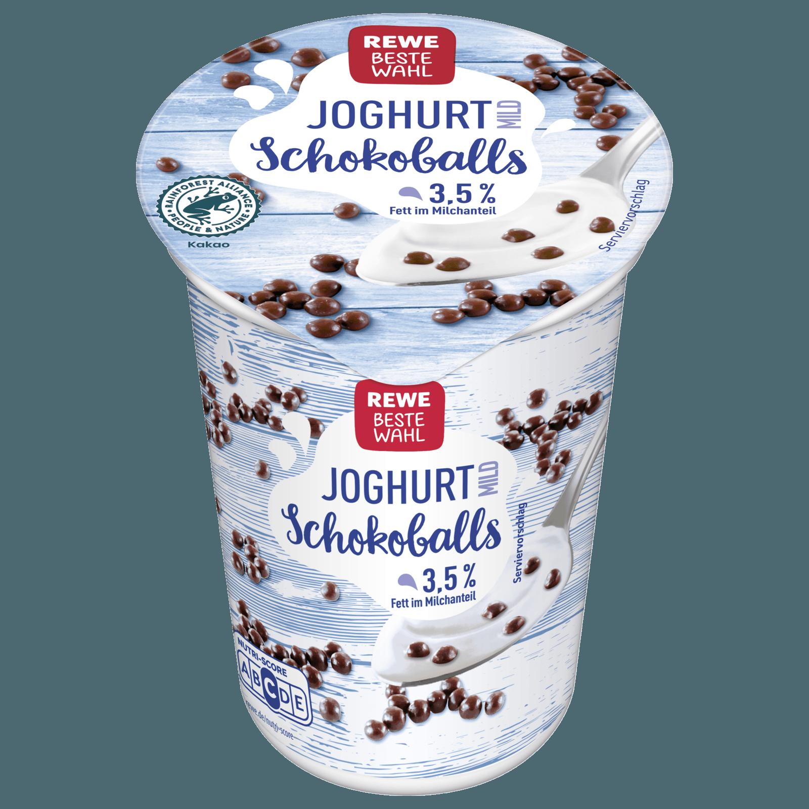 REWE Beste Wahl Joghurt mild Schokoballs 250g