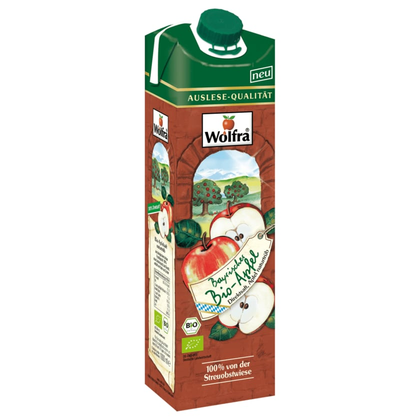 Wolfra Bio Apfel Direktsaft naturtrüb 1l