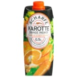 Scharfe Karotte Orange Ingwer pikanter Karottensaft 0,5l