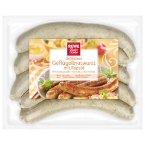 REWE Beste Wahl Delikatess-Geflügel-Bratwurst 400g