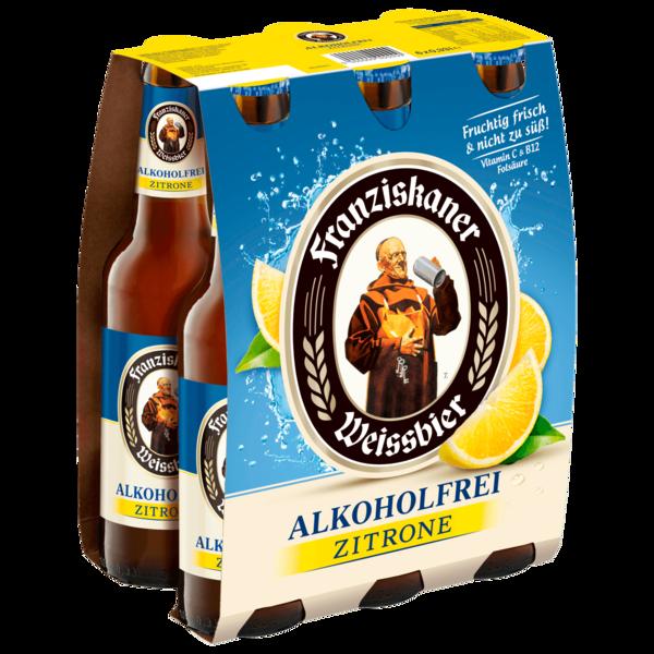 Franziskaner Weißbier Alkoholfrei Zitrone 6x0,33l