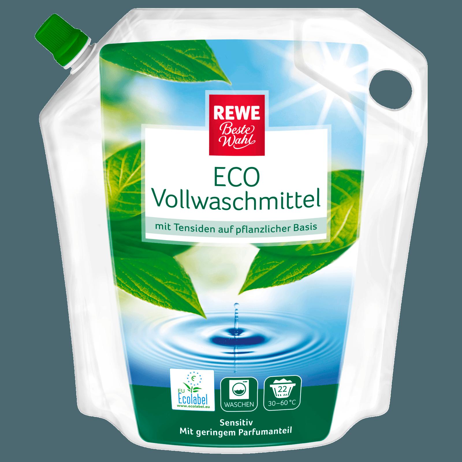 REWE Beste Wahl Vollwaschmittel Eco flüssig 1,5l, 22WL