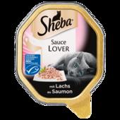 Sheba Katzenfutter Sauce Lover mit Lachs 85g