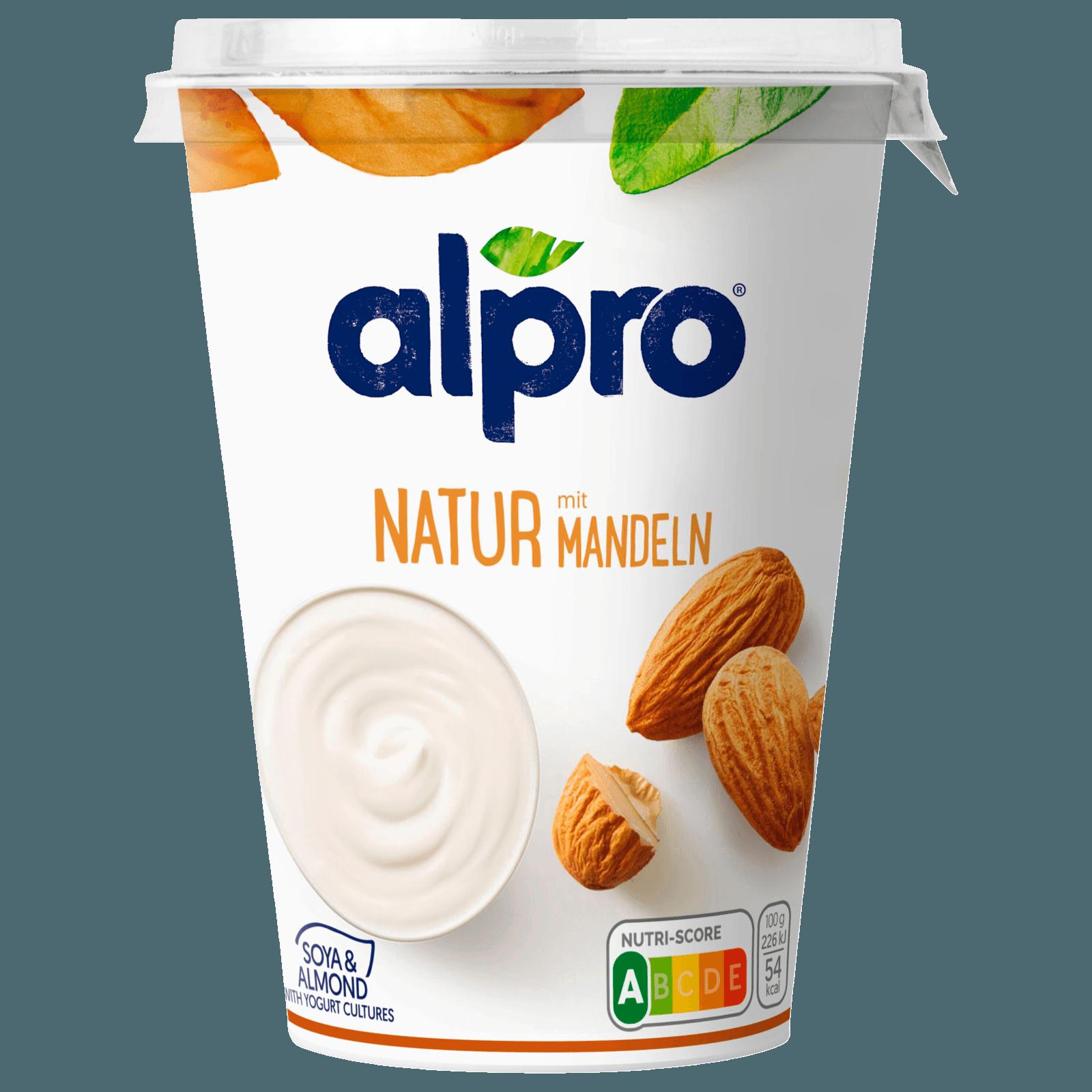 Alpro Soja-Joghurtalternativen Natur mit Mandeln 500g