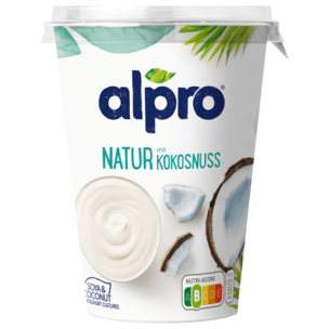 Alpro Soja-Joghurtalternative Natur mit Kokosnuss vegan 500g