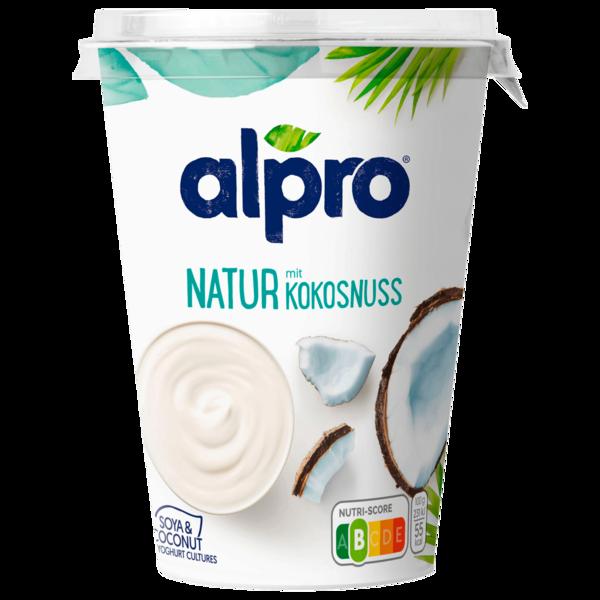 Alpro Soja-Joghurtalternative Natur mit Kokosnuss 500g