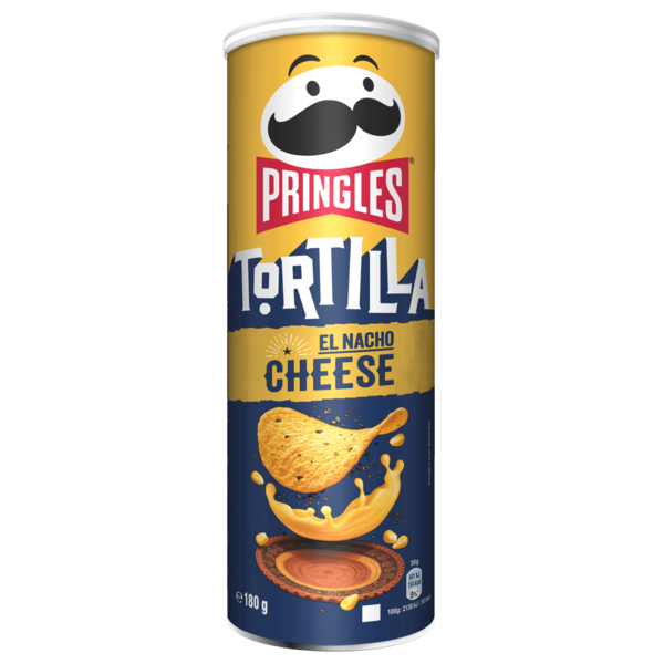 Pringles Tortilla Chips Nacho Cheese 180g