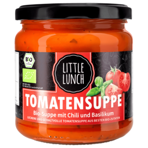 Little Lunch Bio Tomatensuppe mit Chili & Basilikum 350ml
