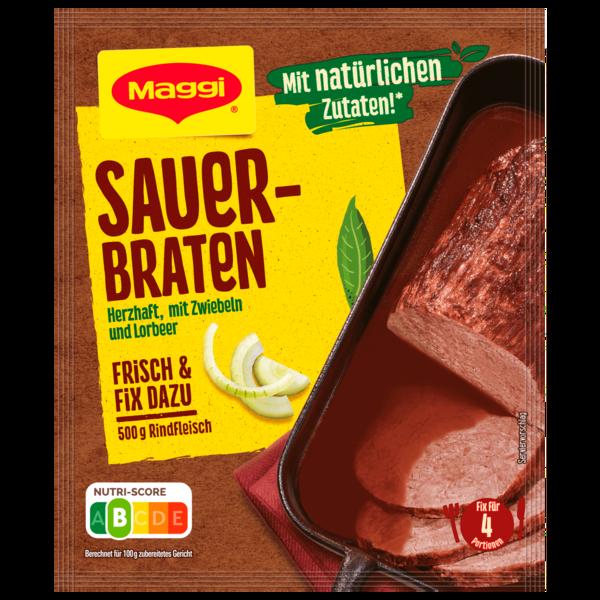 Maggi Fix für Sauerbraten - In würziger fein-säuerlicher Soße - Klassiker 50g