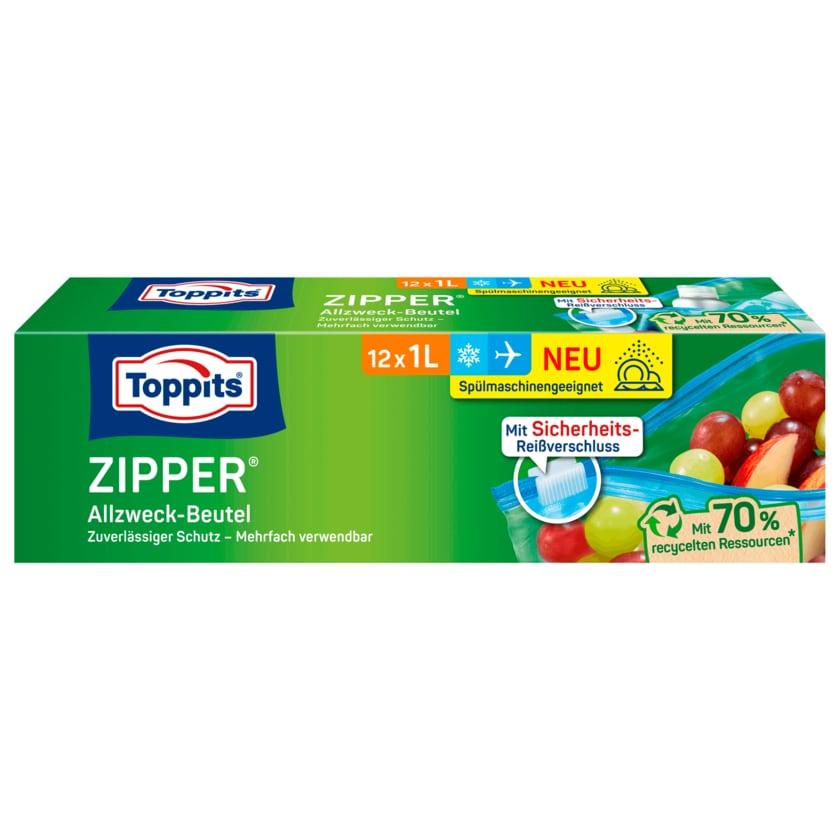 Toppits Zipper Allzweck-Beutel 1l, 12 Stück