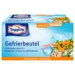 Toppits Gefrierbeutel mit Standboden 1l 100 Stück