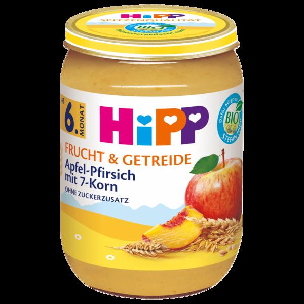 Hipp Frucht & Getreide Bio Apfel-Pfirsich mit 7-Korn 190g
