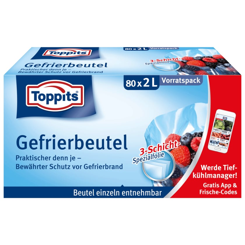 Toppits Gefrierbeutel 80x2l