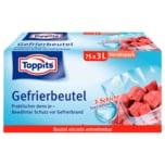 Toppits Gefrierbeutel mit Standboden 3l, 75 Stück
