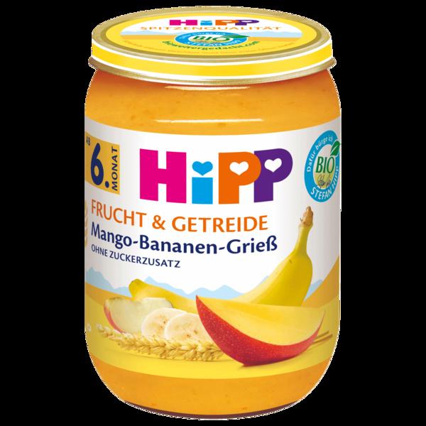 Hipp Bio Mango Banane Griess 190g