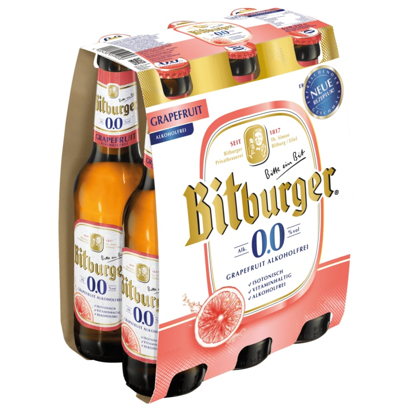 Bitburger Grapefruit alkoholfrei 6x0,33l