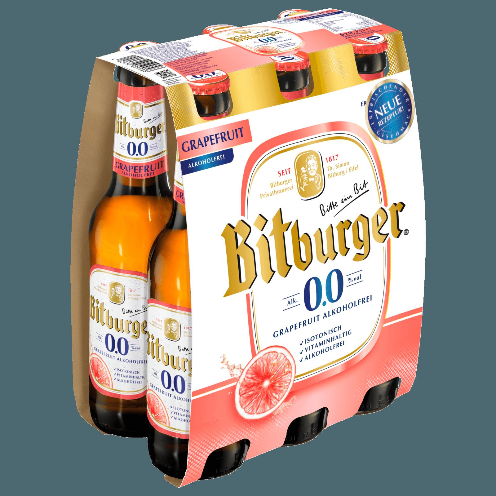 Bitburger 0,0% Grapefruit Alkoholfrei 6x0,33l