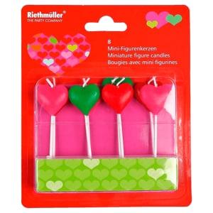 Mini-Figurenkerze Herz 8 Stück