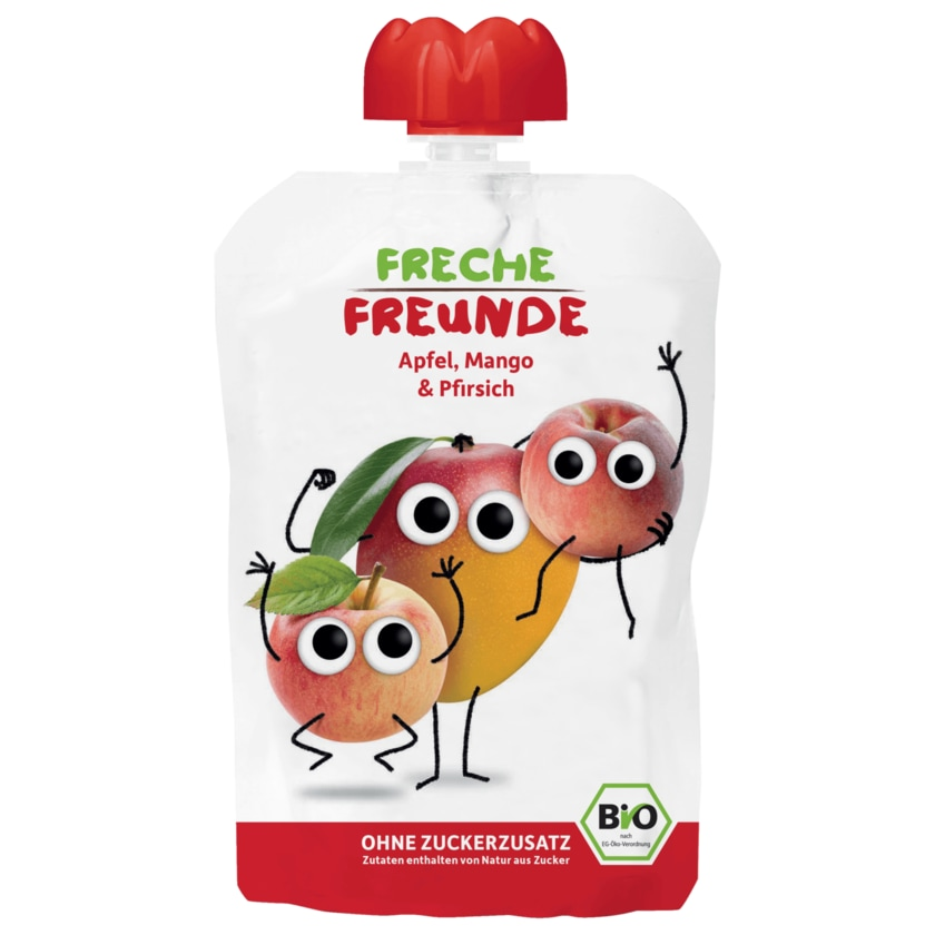Erdbär Freche Freunde Bio Apfel, Mango & Pfirsich 100g