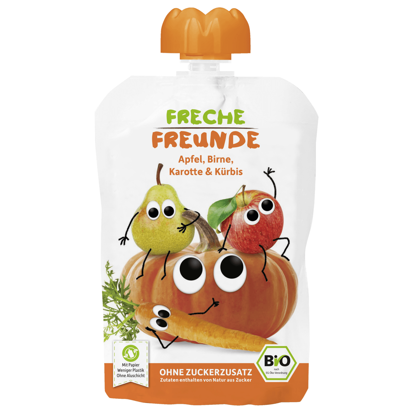 Erdbär Freche Freunde Apfel, Birne, Karotte & Kürbis 100g