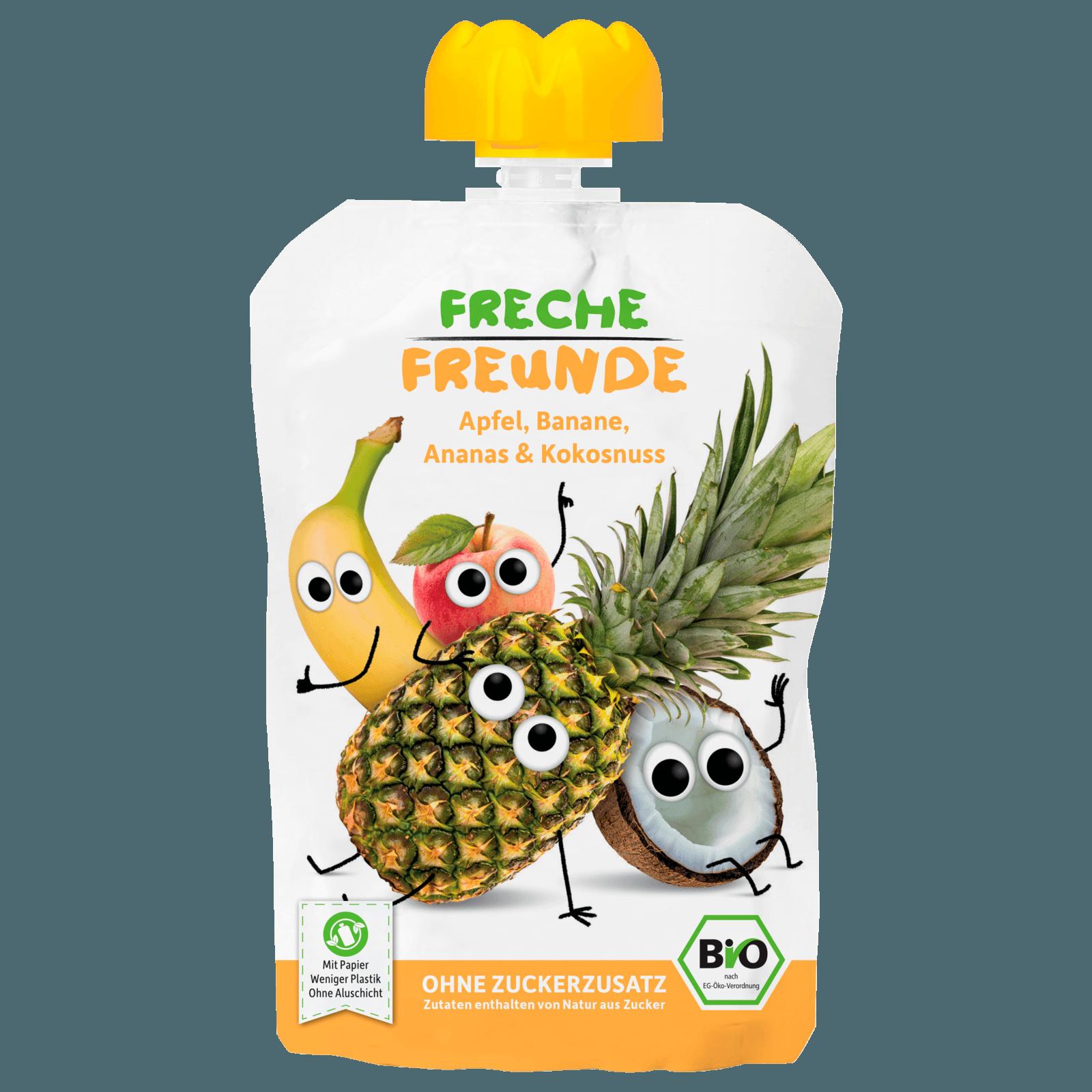 Erdbär Freche Freunde Apfel, Banane & Kokos 100g